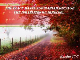 Exodus 17 7 The Place Massa And Mariah Powerpoint Church Sermon