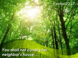 Exodus 20 17 You Shall Not Covet Your Neighbor Powerpoint Church Sermon