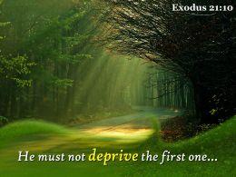 Exodus 21 10 He Must Not Deprive The First Powerpoint Church Sermon