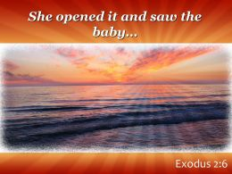 Exodus 2 6 She opened it and saw PowerPoint Church Sermon