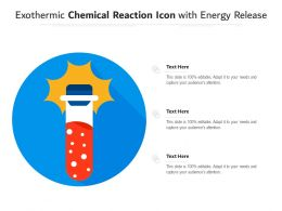 Exothermic Chemical Reaction Icon With Energy Release