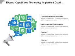 Expand Capabilities Technology Implement Good Environmental Backward Integration