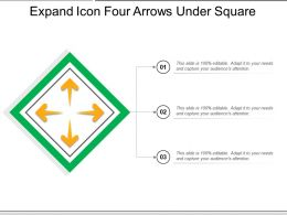 Expand Icon Four Arrows Under Square