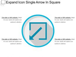 Expand Icon Single Arrow In Square