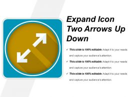 Expand Icon Two Arrows Up Down