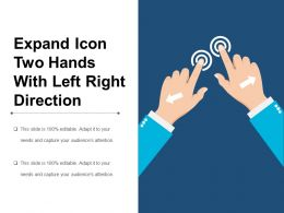 Expand Icon Two Hands With Left Right Direction