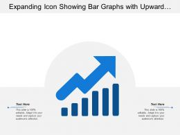 Expanding Icon Showing Bar Graphs With Upward Arrow