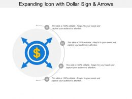 Expanding Icon With Dollar Sign And Arrows