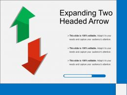 Expanding Two Headed Arrow