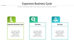 Expansion Business Cycle Ppt Powerpoint Presentation Ideas Graphics Example Cpb