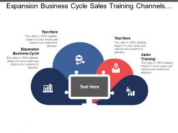 Expansion Business Cycle Sales Training Channels Distribution Automation Control