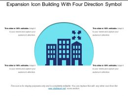 Expansion Icon Building With Four Direction Symbol