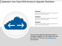 Expansion Icon Cloud With Arrows In Opposite Directions
