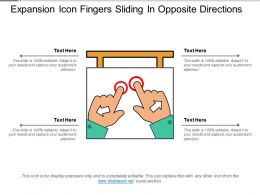 Expansion Icon Fingers Sliding In Opposite Directions