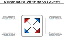 Expansion Icon Four Direction Red And Blue Arrows