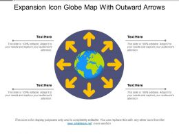 Expansion Icon Globe Map With Outward Arrows
