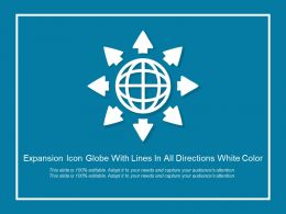 Expansion Icon Globe With Lines In All Directions White Color