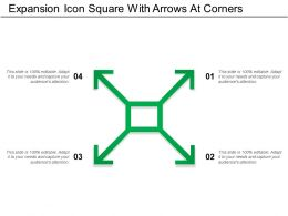 Expansion Icon Square With Arrows At Corners