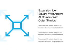 Expansion Icon Square With Arrows At Corners With Outer Shadow