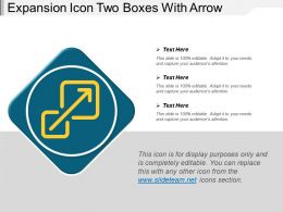 Expansion Icon Two Boxes With Arrow