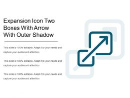 Expansion Icon Two Boxes With Arrow With Outer Shadow
