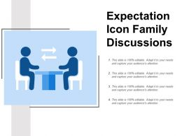 Expectation Icon Family Discussions