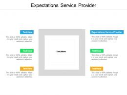 Expectations Service Provider Ppt Powerpoint Presentation Infographics Graphics Design Cpb