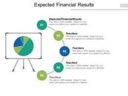 Expected Financial Results Ppt Powerpoint Presentation Gallery Brochure Cpb