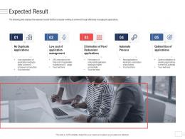 Expected Result Enterprise Application Portfolio Management Ppt Icons