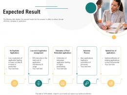 Expected Result Optimizing Enterprise Application Performance Ppt Background Image