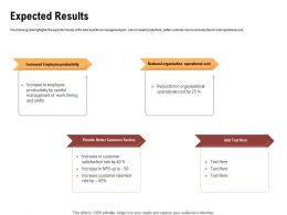 Expected Results Provide Better Ppt Powerpoint Presentation Inspiration Guidelines