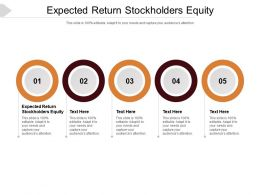 Expected Return Stockholders Equity Ppt Powerpoint Presentation Pictures Model Cpb