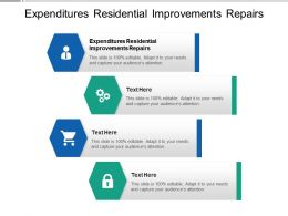 Expenditures Residential Improvements Repairs Ppt Powerpoint Presentation Professional Example Cpb