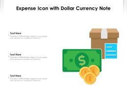 Expense Icon With Dollar Currency Note