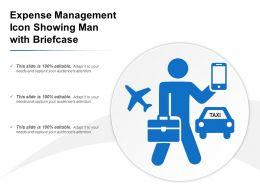 Expense Management Icon Showing Man With Briefcase