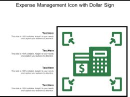 Expense Management Icon With Dollar Sign