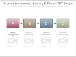 Expense Management Literature Fulfillment Ppt Sample