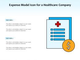 Expense Model Icon For A Healthcare Company