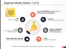 Expense Model Option Business Ppt Powerpoint Presentation Summary Layout Ideas