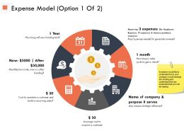 Expense Model Option Process Ppt Powerpoint Presentation Outline Guide