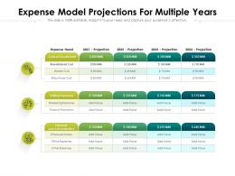 Expense Model Projections For Multiple Years