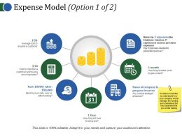 Expense Model Template 1 Powerpoint Slide Show
