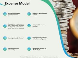Expense Model Unique Strategic Alliances Ppt Powerpoint Presentation Picture