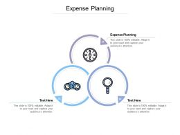 Expense Planning Ppt Powerpoint Presentation Show Deck Cpb