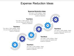 Expense Reduction Ideas Ppt Powerpoint Presentation Inspiration Example File Cpb