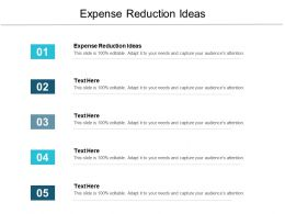 Expense Reduction Ideas Ppt Powerpoint Presentation Outline Design Ideas Cpb