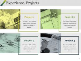 Experience- Projects Ppt Styles Graphics Example