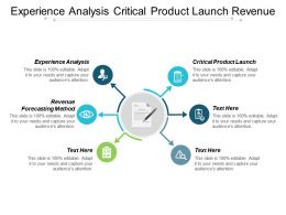 Experience Analysis Critical Product Launch Revenue Forecasting Method Cpb