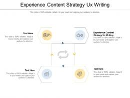 Experience Content Strategy Ux Writing Ppt Powerpoint Presentation Portfolio Example Topics Cpb