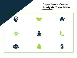 Experience Curve Analysis Icon Slide Ppt Powerpoint Presentation File Files